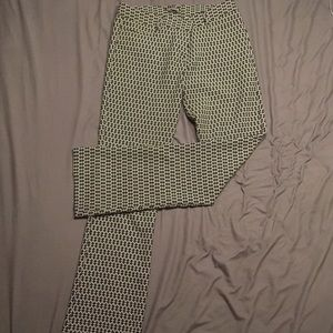 Express patterned columnist trousers